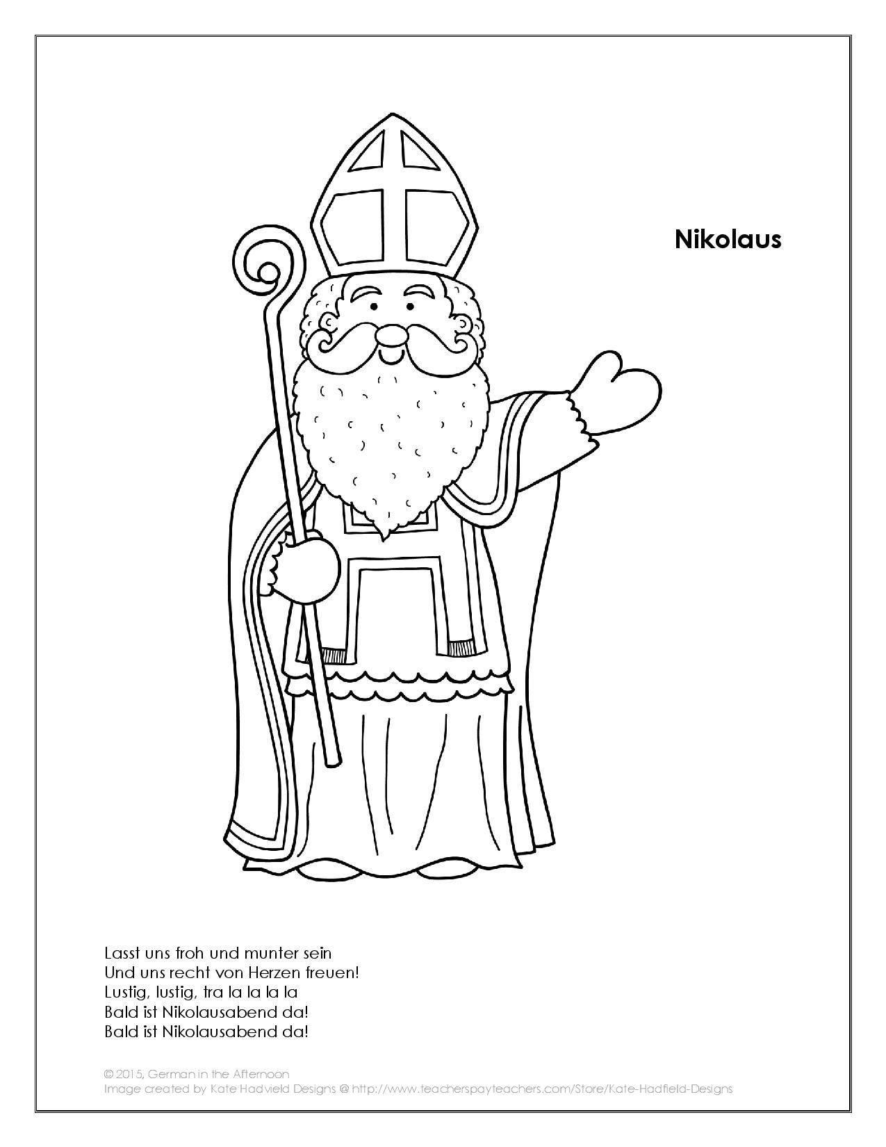 Niedlich Nikolaus Sankt Malvorlage Bilder Malvorlagen Ideen
