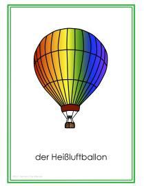 Fahrzeuge Posters GitA-Heißluftballon