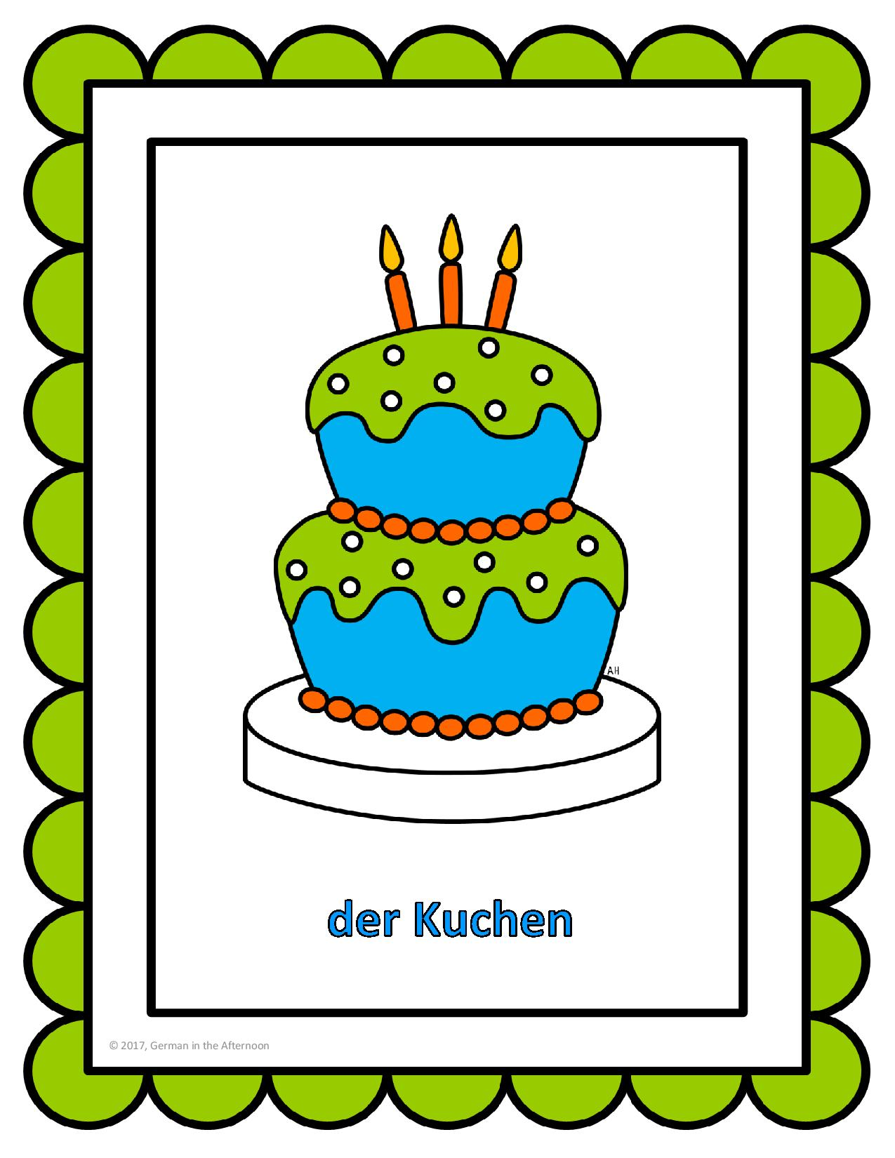 Happy Birthday! | German in the Afternoon Activities