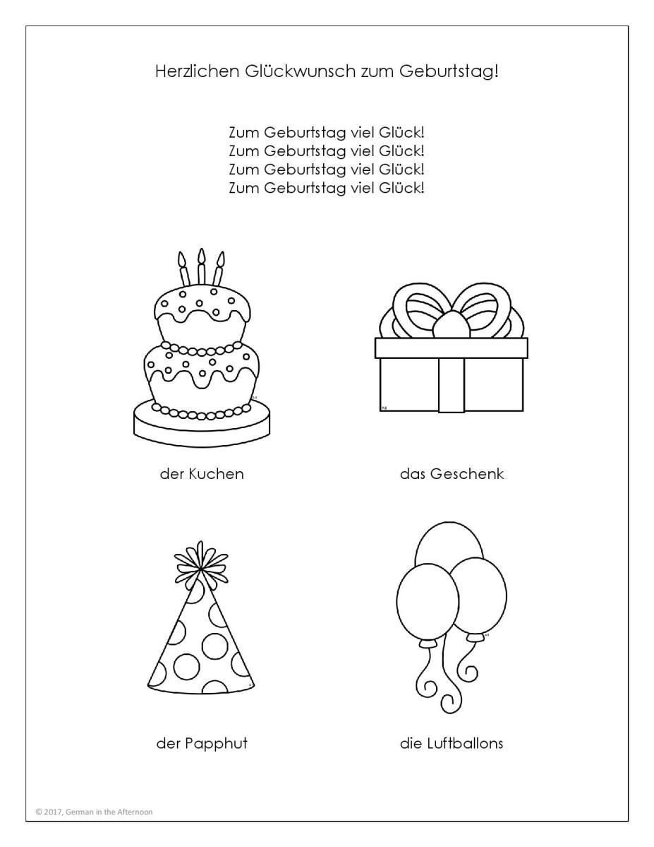 Herzlichen Glückwunsch zum Geburtstag Malvorlage GitA 30 page ...