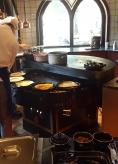 Pannenkoeken being made in the circulating oven @ the Efteling
