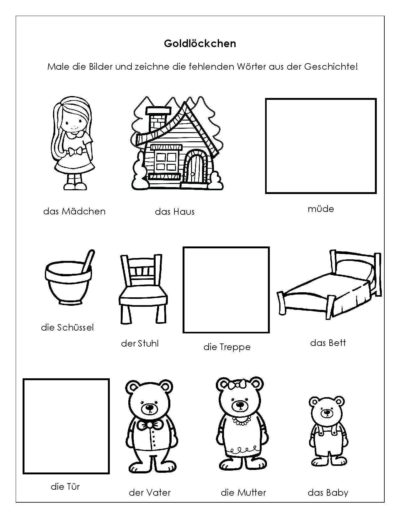 Goldilocks and … Two Firsts for Me!   German in the Afternoon Activities