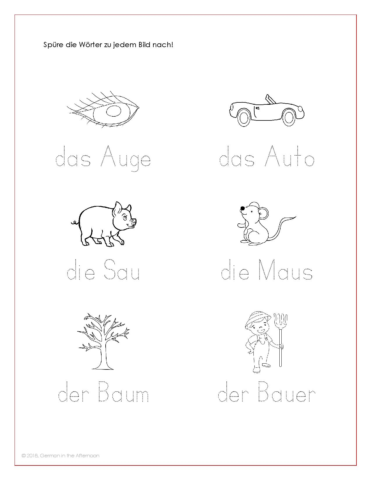 Arbeitsblätter AU-page-004 | German in the Afternoon Activities