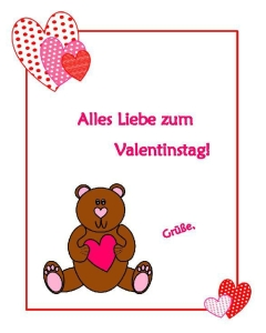 Alles Liebe Zum Valentinstag German In The Afternoon Activities