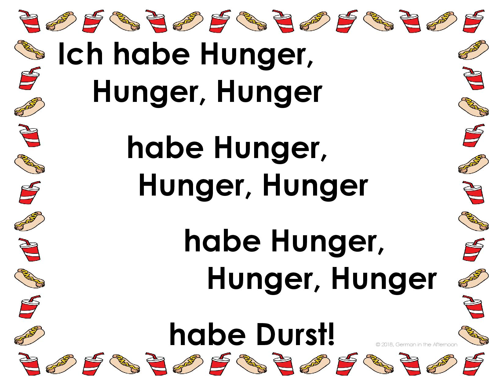 Ich habe Hunger! German Song | German in the Afternoon