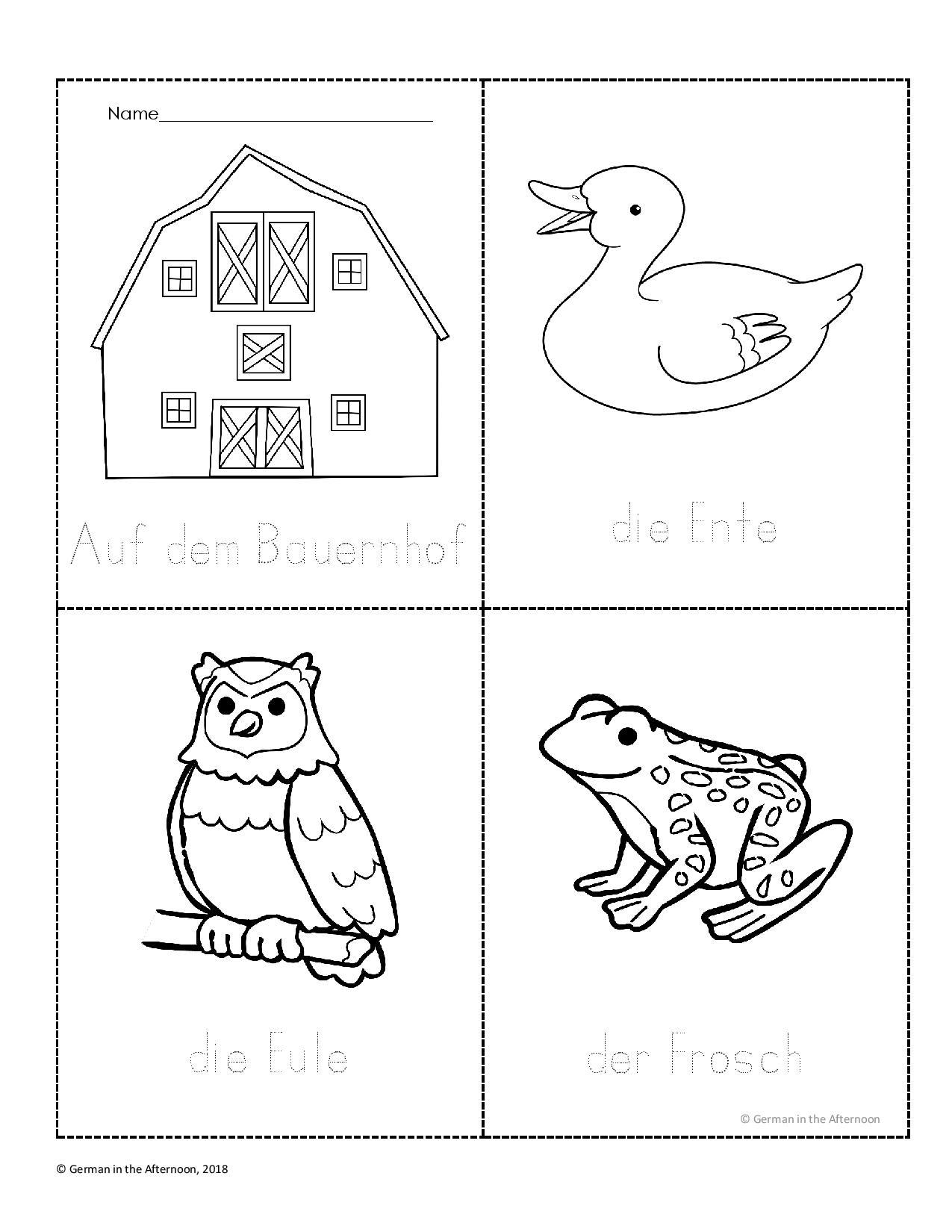 Bauernhof Malbuch – Farm Coloring Book   German in the Afternoon ...