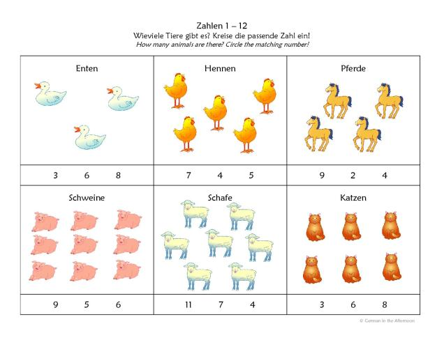 Zahlen 1-12 Tiere-page-001
