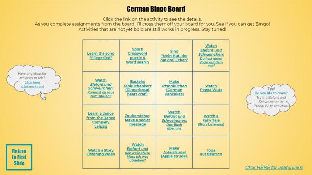 Bingo Board 2020 Complete