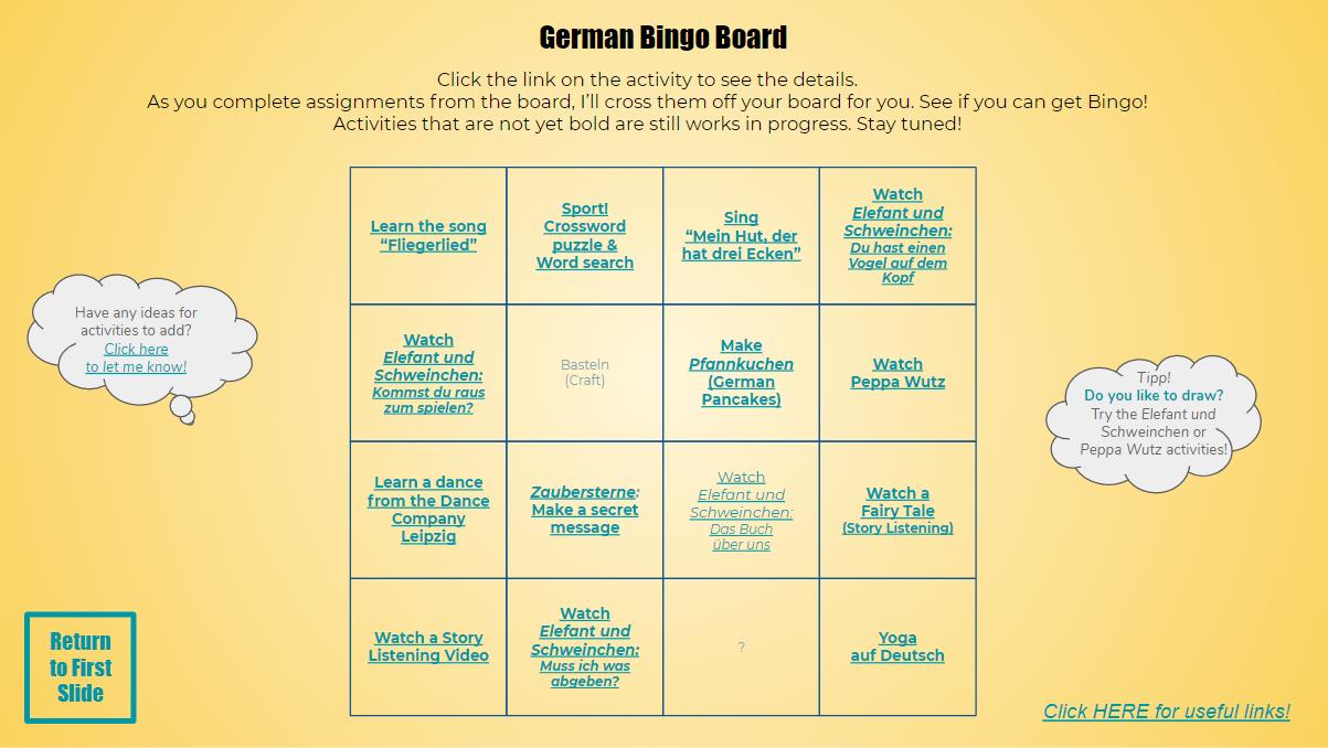 Bingo Board 2020